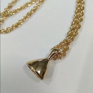 Gold Triangle Pendant Chain Necklace